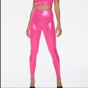 Pink metallic legging